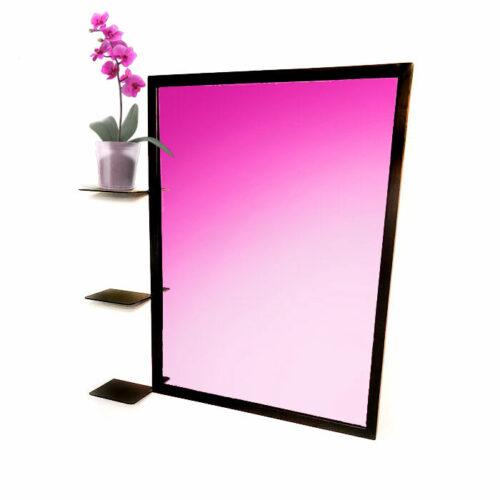 מראה לחדר שינה - מראה עם מסגרת - מראה ממתכת - מראה מרובעת