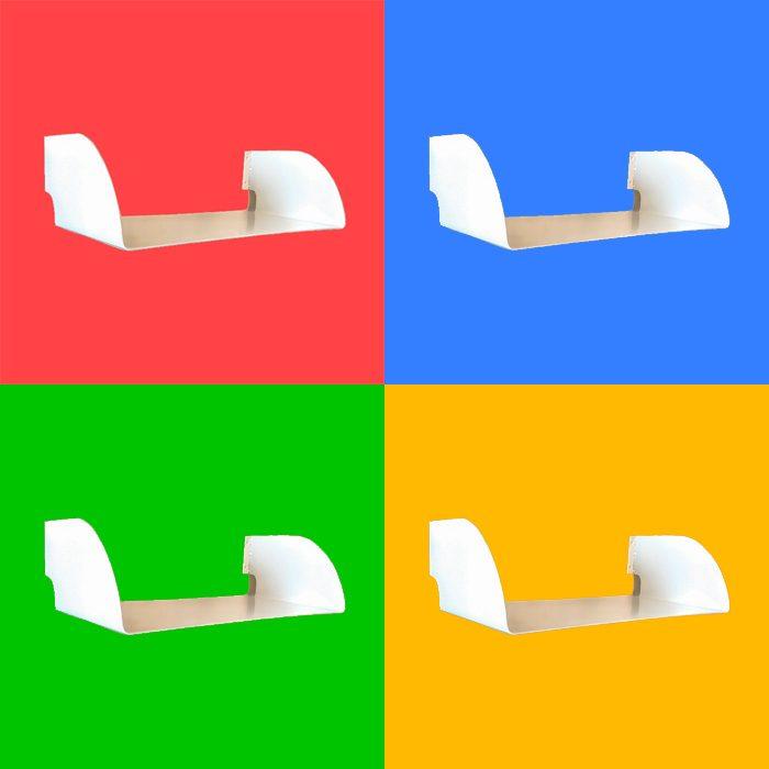 תקליטים - מדף צף לתקליטים במגוון צבעים