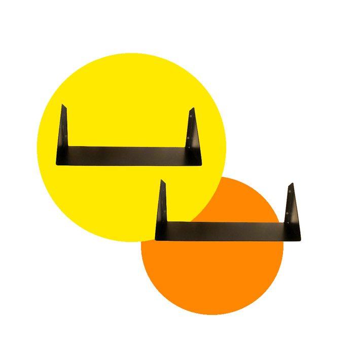 מדפים ממתכת - מדף מתכת שחור - מדפים מעוצבים