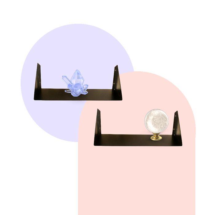 מדפים מעוצבים - מדף מתכת מתהפך מדף מתכת צף