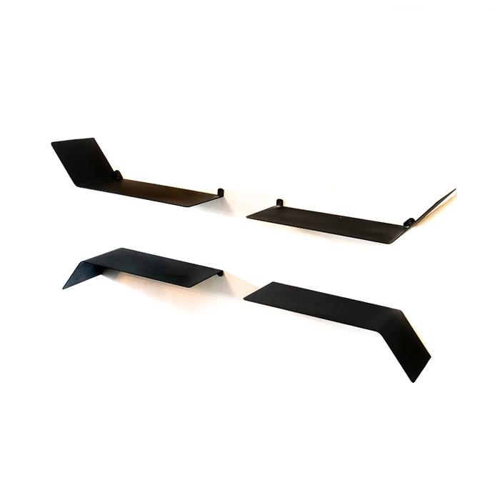 מדף מתכת מעוצב - מדף כנף דו כיווני