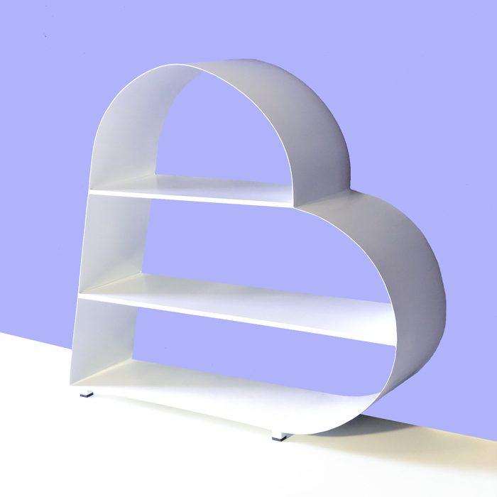 קונסולה לכניסה בצורת לב - כוונית מדפים ממתכת