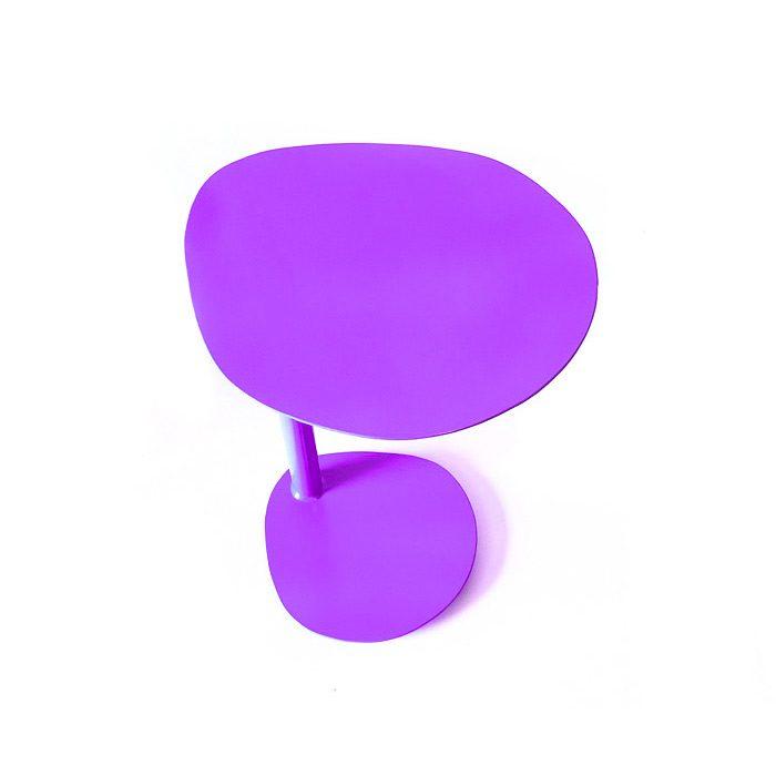 שולחן קפה קטן - שולחן צד לסלון - שולחן קטן - עשוי מתכת