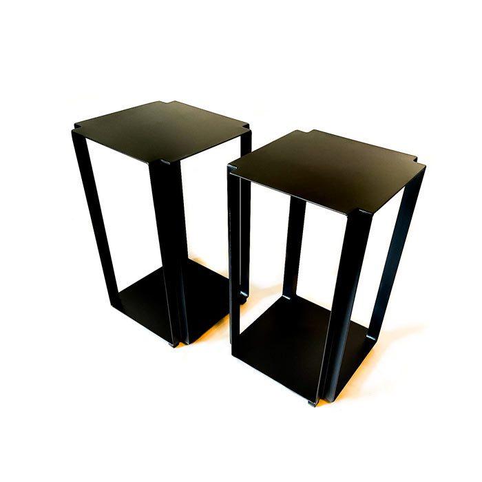 שולחן קפה גאומטרי - שולחן צד מברזל